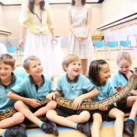 Python we rescued earlier helped us back in a school presentation